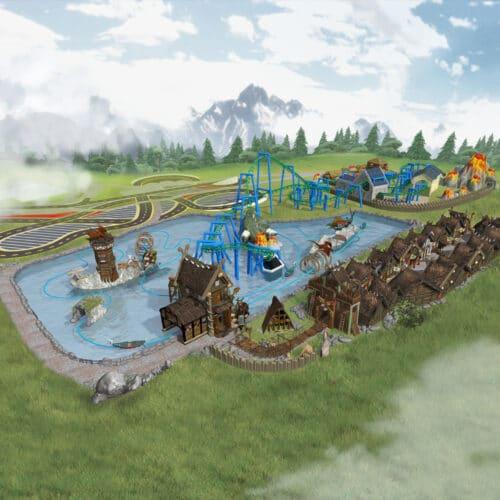 Wioska Wikingów w Parku Rozrywki Energylandia