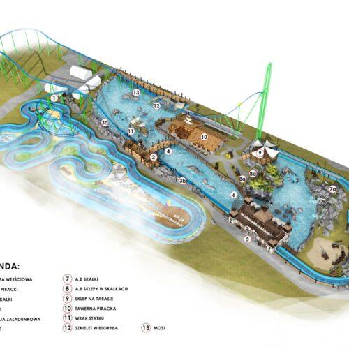 Rollercoaster Speed Water Coaster dla Parku Rozrywki Energylandia