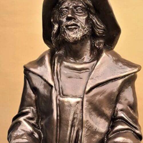 Rzeźba Rybaka – pomnik przy Muzeum Rybołówstwa / brąz