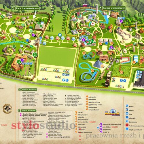Mapa Parku Rozrywki dla Inwałd Park